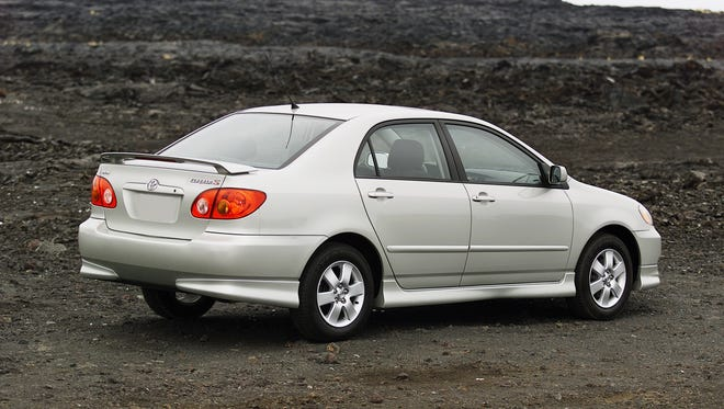 This 2003 Toyota Corolla is among hundreds of thousands of cars Toyota is re-recalling for airbag risk because even after Toyota thought they were fixed in recall last year, airbag supplier Takata incorrectly listed the models that might have a problem.