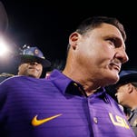 Orgeron cool and sharp under fire at first not so friendly radio show; Guice will start