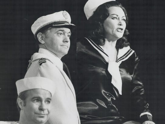 Yvonne de Carlo in Dames at Sea at the Embassy Cabaret