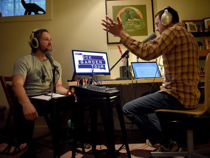 """Tom Hurlbert """"Oil Can"""" (left) and Ted Heeren """"Flowerman"""""""
