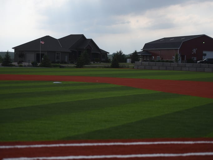 From first base, the field looks out to Tyler and McKenzie