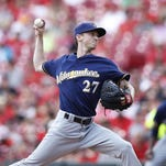 Brewers starter Zach Davies allowed only four hits — all singles — and no walks while logging five strikeouts in seven innings.