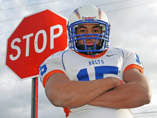 Millville's Ed Shockley, shown here during his senior