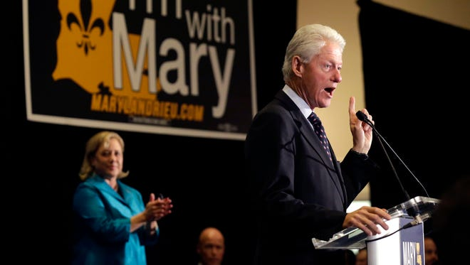 Former President Bill Clinton speaks Monday at a campaign event for Sen. Mary Landrieu, D-New Orleans, in Baton Rouge.