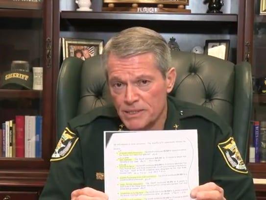 Escambia County Sheriff David Morgan responds to the