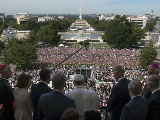 Pope Francis, John Boehner, Joe Bden, Kevin McCarthy, Nancy Pelois, Donald Wuerl Harry Reid, Mtch McConnell, Joseph Kurtz