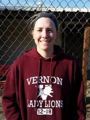 Caroline Taylor plays No. 1 doubles for Vernon