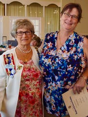 Vicki Gehlert, left, received a Years of Membership