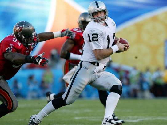 Super Bowl XXXVII Oakland Raiders vs. the Tampa Bay