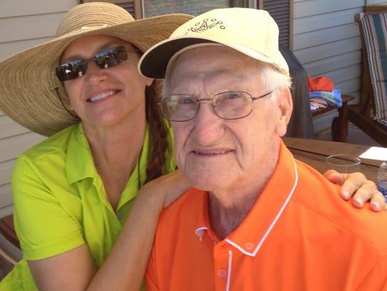 Marry Borlik with dad Stanley Borlik.