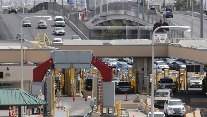 Traffic moves into the U.S. on Thursday at the Bridge of the Americas Port of Entry.