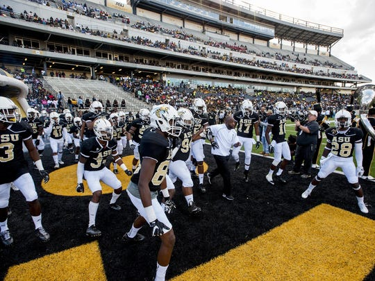 Alabama State takes the field against Alabama A&M in the 77th Magic City Classic on Saturday.
