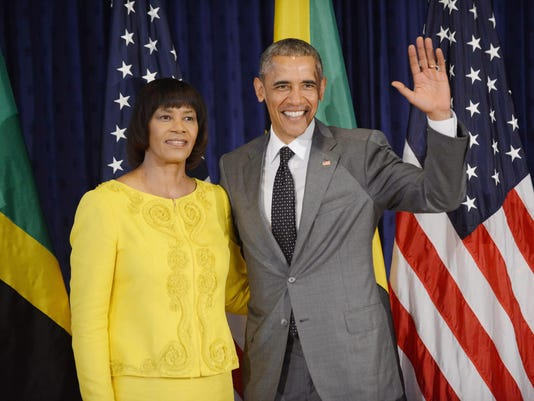 Obama arrives in Jamaica for one day visit an CARICOM meeting