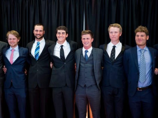 The Tennessee golf teams at the 2017 Volscars on Monday,