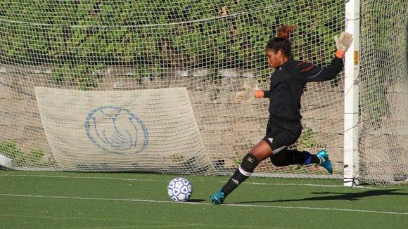 Yonkers Montessori junior goalkeeper Milagros Moye