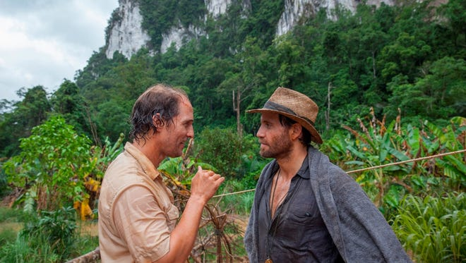 """Matthew McConaughey (left) and Edgar Ramirez play two dreamers who head to the wilds of Indonesia to look for """"Gold."""""""
