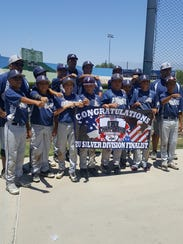 The 12U Oxnard Arsenal took second place in the Silver