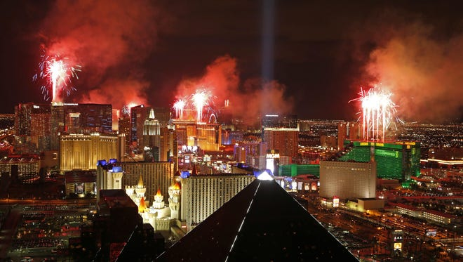 The Las Vegas strip, seen on Jan. 1, 2015, will receive an NHL expansion franchise in 2017-18.
