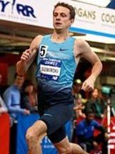Erik Sowinski, in a 2014 indoor meet.