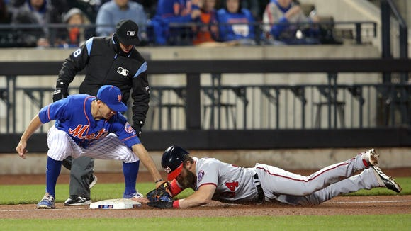 USP MLB: WASHINGTON NATIONALS AT NEW YORK METS S BBN NYM WAS USA NY