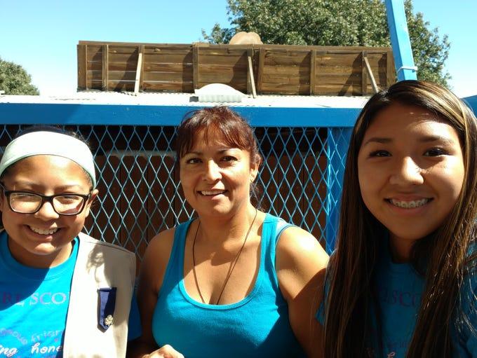 Kiyana Sanchez, left, Terry Oporto and Justine Dee.