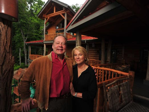 W. Allen and June Morris at their Black Mountain home.