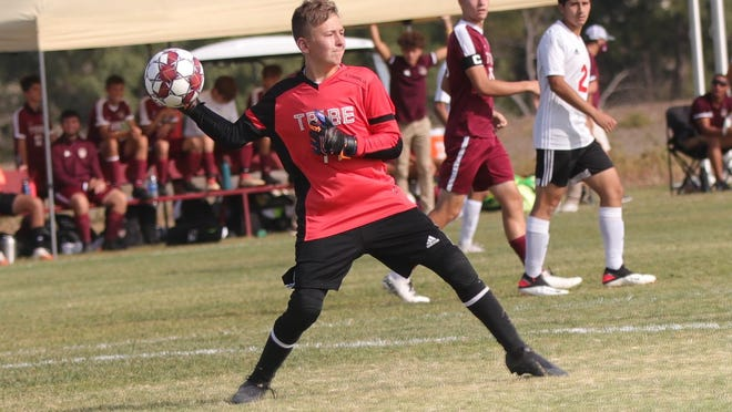 Hays High goalkeeper Cannon Meder recorded a shutout in his first start for the Indians.