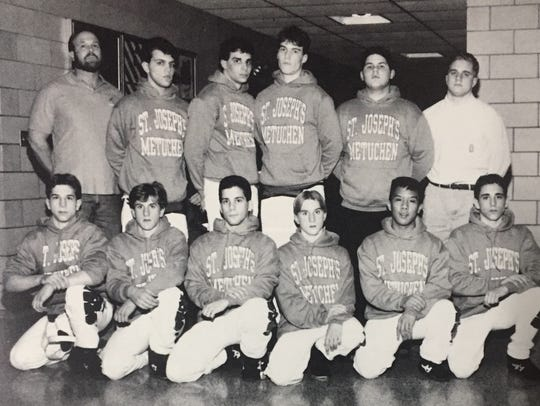 The 1992-93 St. Joseph (Met.) wrestling team.
