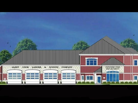 A rendering of Conger Fire District's new firehouse, is currently being constructed on Route 9W in the hamlet.