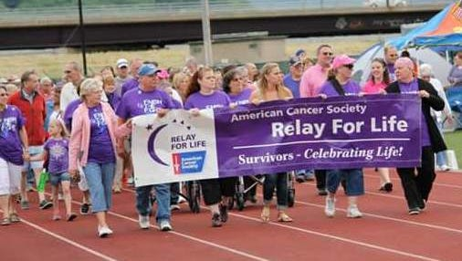 People take part in the 2014 Relay for Life in Corning.