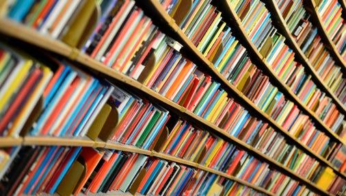 Library shelf.