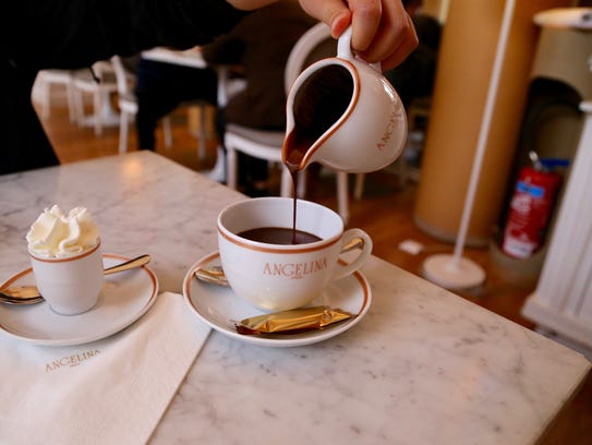 In this Sept. 15, 2017, photo, the hot cocoa at Angelina's