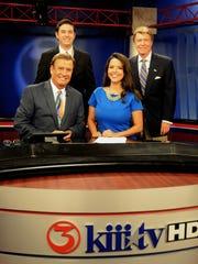 Katia Uriarte, front right, has left KIII-TV in Corpus