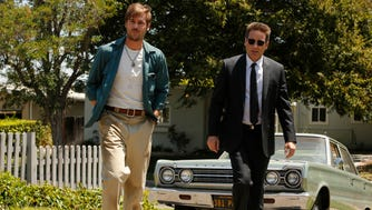 Grey Damon as Brian Shafe, left, and David Duchovny as Sam Hodiak, in the new series.