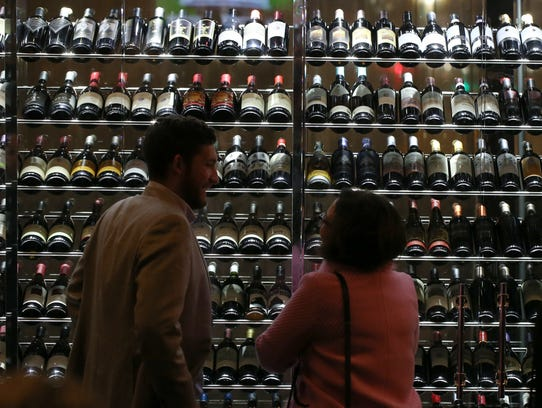 A wall of wine adds drama to Morton's the Steakhouse