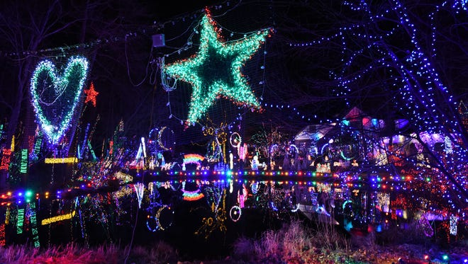 A view of Tim Gay's Christmas light display at his home in Union Vale.