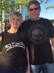 Jim Severo and his mom Jane Severo from Appleton took in the Eagles concert. It was Mom's first-ever major concert.