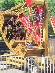 Carnival rides were set up outside Malesus Elementary on Saturday.
