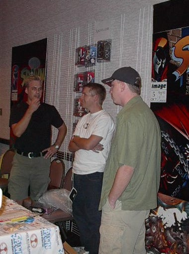 Todd McFarlane attends Phoenix Comicon in 2002.