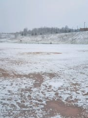 Johnson City's softball field early Thursday morning.
