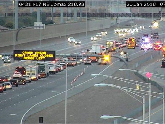 Fatal crash on I-17