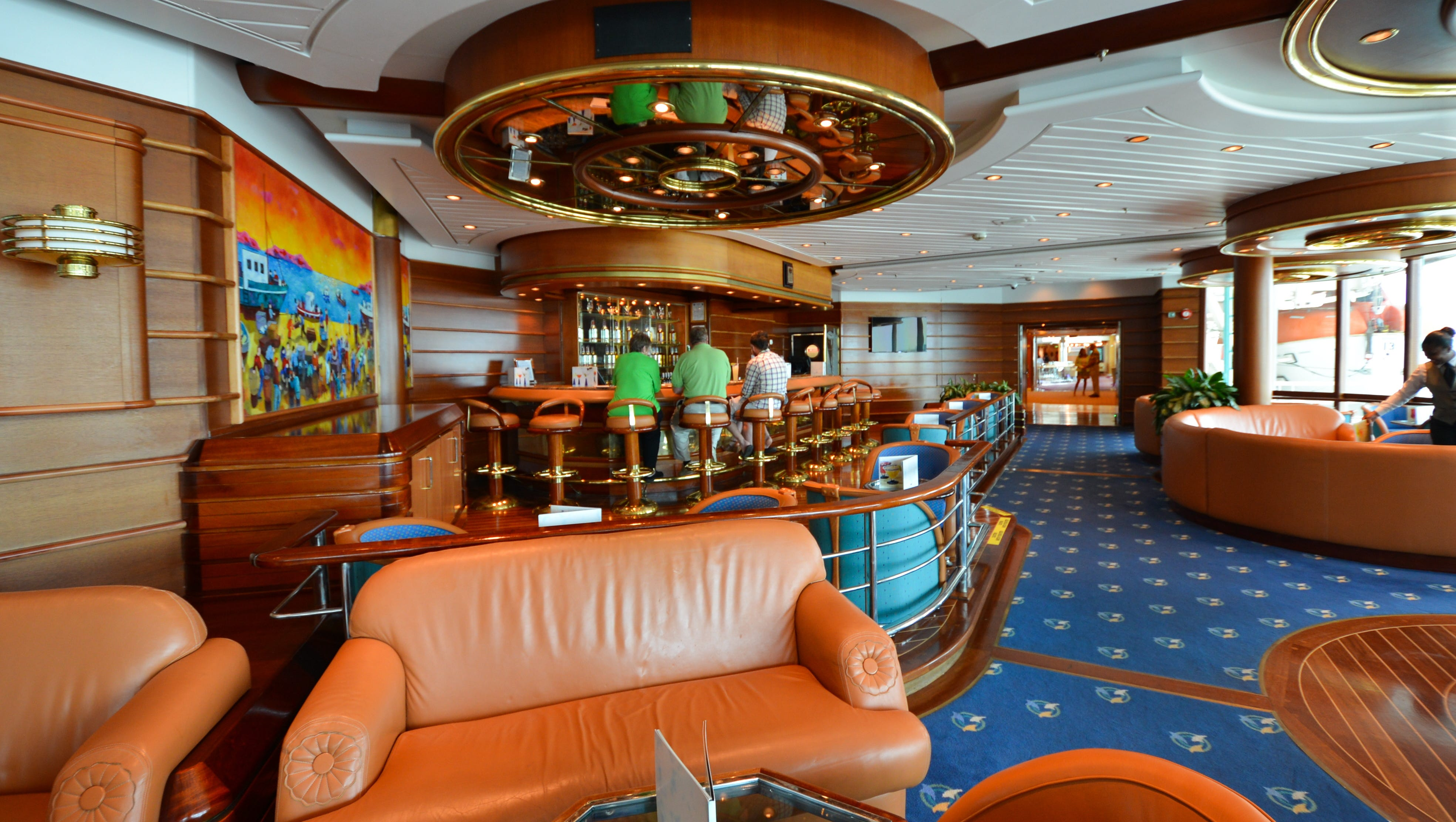 Located just off the Centrum is the Schooner Bar, a signature Royal Caribbean lounge that is a central gathering place for passengers.