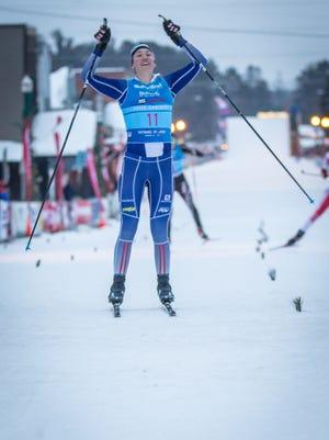 Deedra Irwin, a Pulaski High School alumna, won the American Birkebeiner 55K classic race on Saturday.