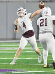 Brownwood quarterback Tommy Bowden throws a pass during