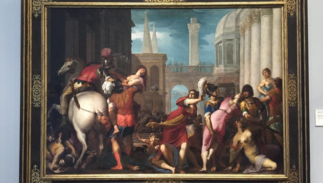 """Rape of the Sabine Women"" by Jacopo Ligozzi (1605-15) is one of the eight paintings owned by the late A. Alfred Taubman on view at the Detroit Institute of Arts. All of them are to be sold at auction at Sotheby's."