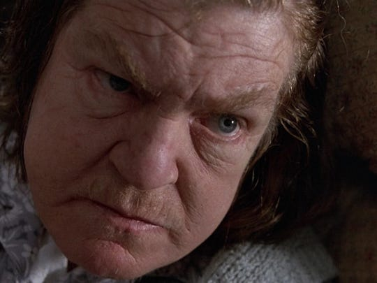 Maybe tossing mama (Anne Ramsey) off the train wouldn't be such a bad idea.