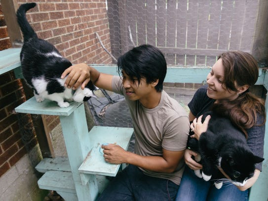 Thien and Maegan Phan are the catlovers behind the