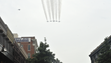 The Blue Angels fly down Palafox Street on Sunday,