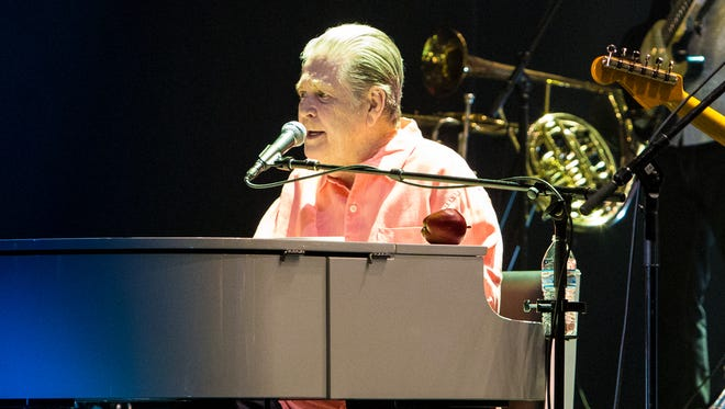 Brian Wilson former Beach Boy and band performing Pet Sounds at the Murat Theatre in Indianapolis on April 23, 2017.