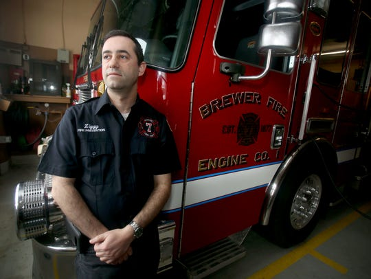 Raphael Zeigler in a  Jan. 17, 2018, file photo at the Brewer Fire Engine Company in Monsey.